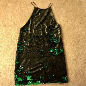 Ecote Reversible Sequin Halter Dress